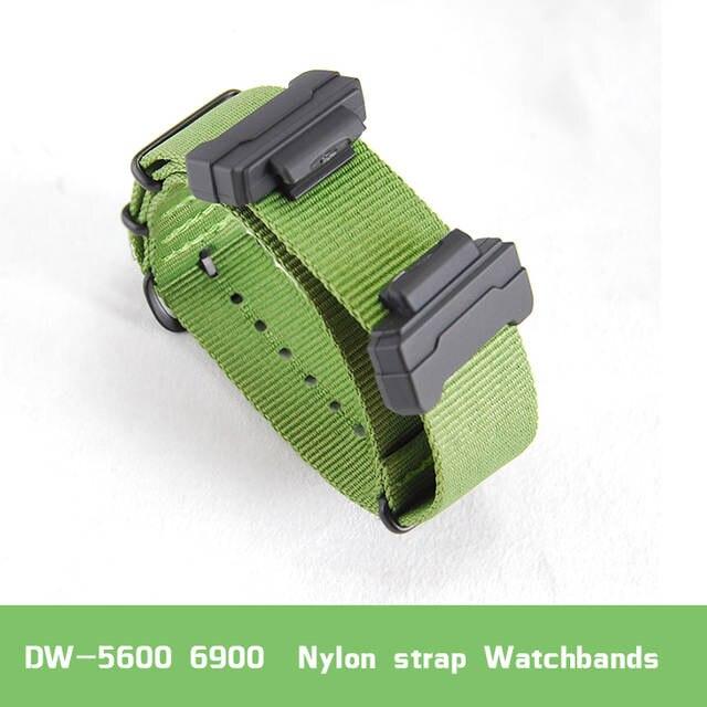 161ee234aaf Conjunto de terminais de Substituição para casio DW 5600 6900 M5610 série +  cinta de Nylon pulseiras de relógio em Pulseiras de relógio de Relógios no  ...