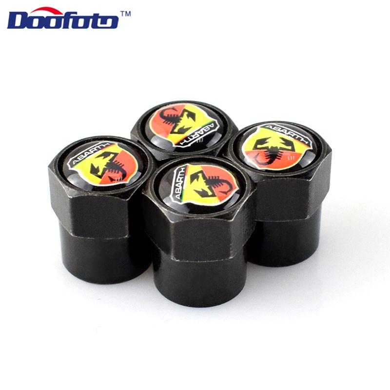 Doofoto аксессуары для автомобиля Стайлинг Авто шапки Логотип для Abarth 500 124 для Fiat Punto Ducato Palio Bravo Tipo значок с эмблемой 4 шт./лот