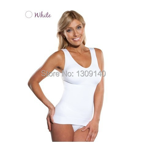1abc3b0c1a233 Cami shaper by Genie Bra with Removable Pads Look Thinner Instantly Women  Slimming Shapewear Camisole Hot Shapers-in Tops from Underwear   Sleepwears  on ...
