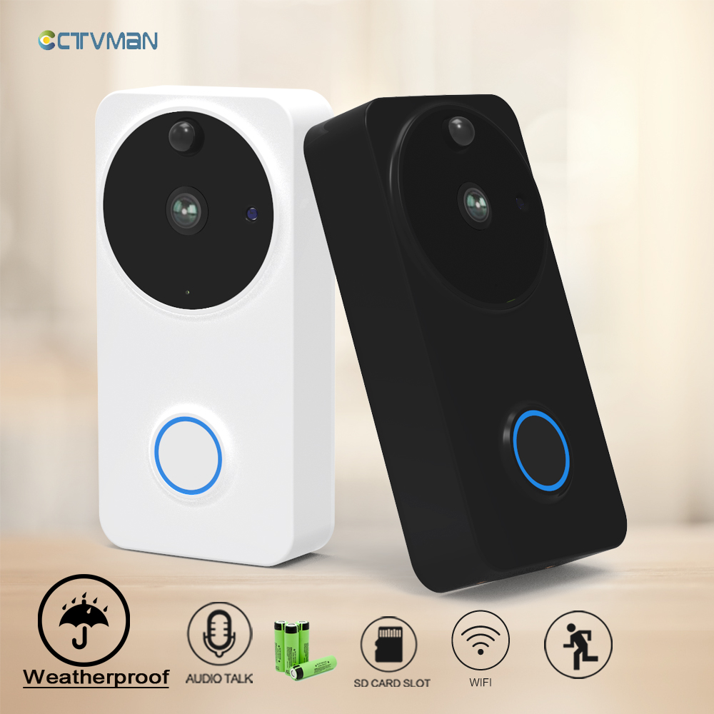 CTVMAN Video Doorbell Door Intercom Waterproof Door Phone Wifi Battery Wireless Doorphone For Apartment Outdoor Doorbell Camera