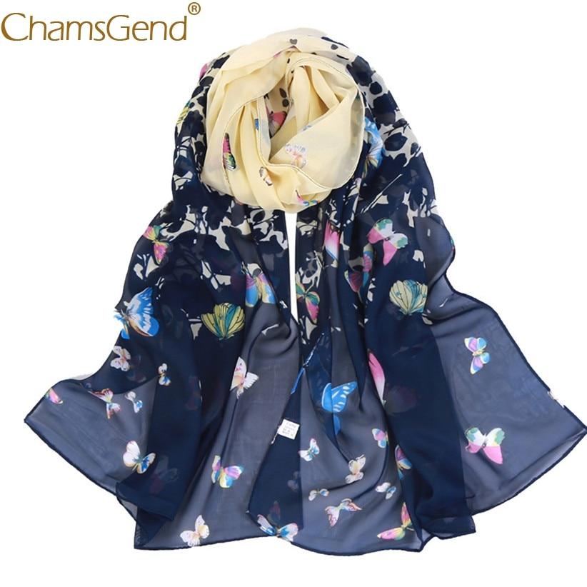 Free Shipping Fashion Lady Butterfly   Scarf   Women Long Neck   Wraps   Shawl 80829