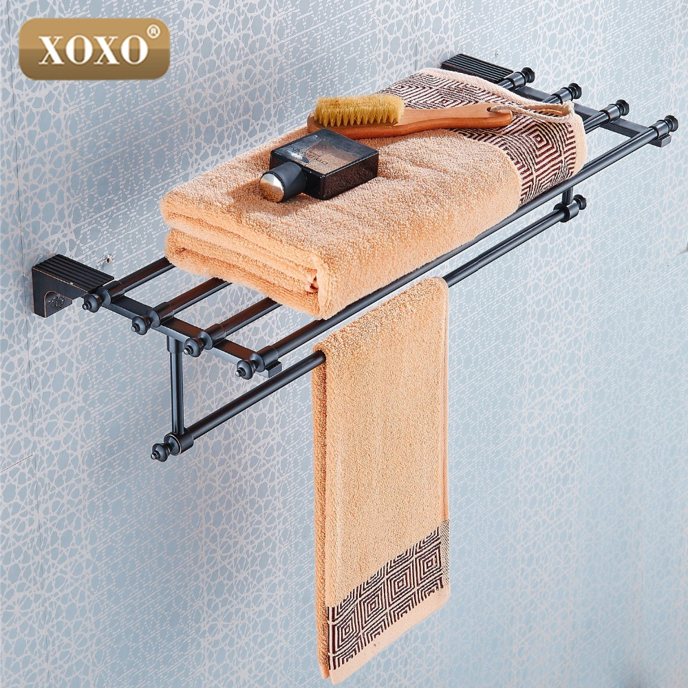 XOXO owel Racks Luxury Bathroom Accesserries High Quality Golden Finish Bath Towel Shelves Towel Bar bath hardware 18020H meifuju new arrival towel racks luxury bathroom accessories high quality golden finish bath towel shelf towel bar bath hardware