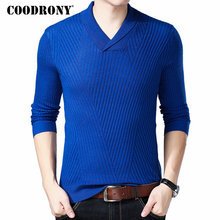 COODRONY Mnes Sweaters 2018 Autumn Winter New Arrivals Cashmere Wool Sweater Pullover Men Casual Henry Collar V Neck Jumper 8239