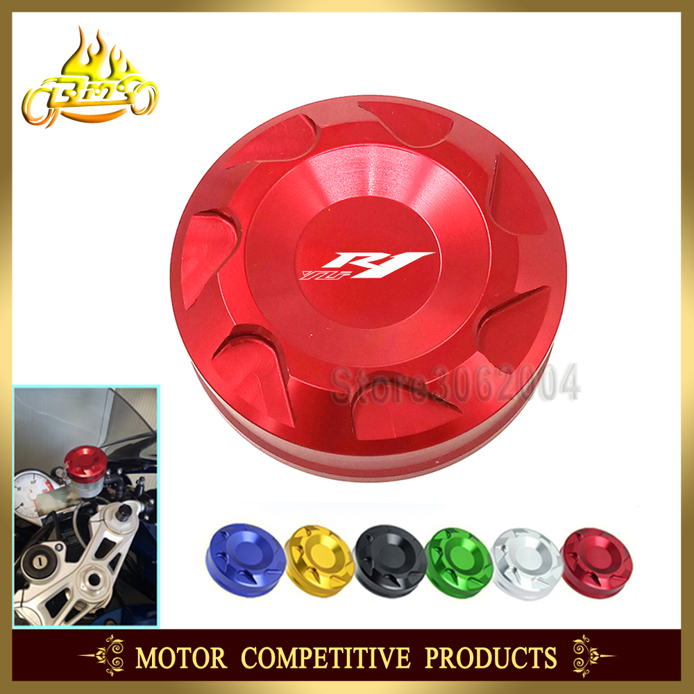 Front Brake Master Cylinder Fluid Reservoir Cover Oil Cap Motorcycle For YAMAHA YZF-R1 yzf r1 YZFR1 2004-2015 2014 2013 2012 CNC 7 color propeller protective frame for syma x8 x8c x8w x8g x8hc x8hw x8hg quadcopter rc drone spare parts protection accessories