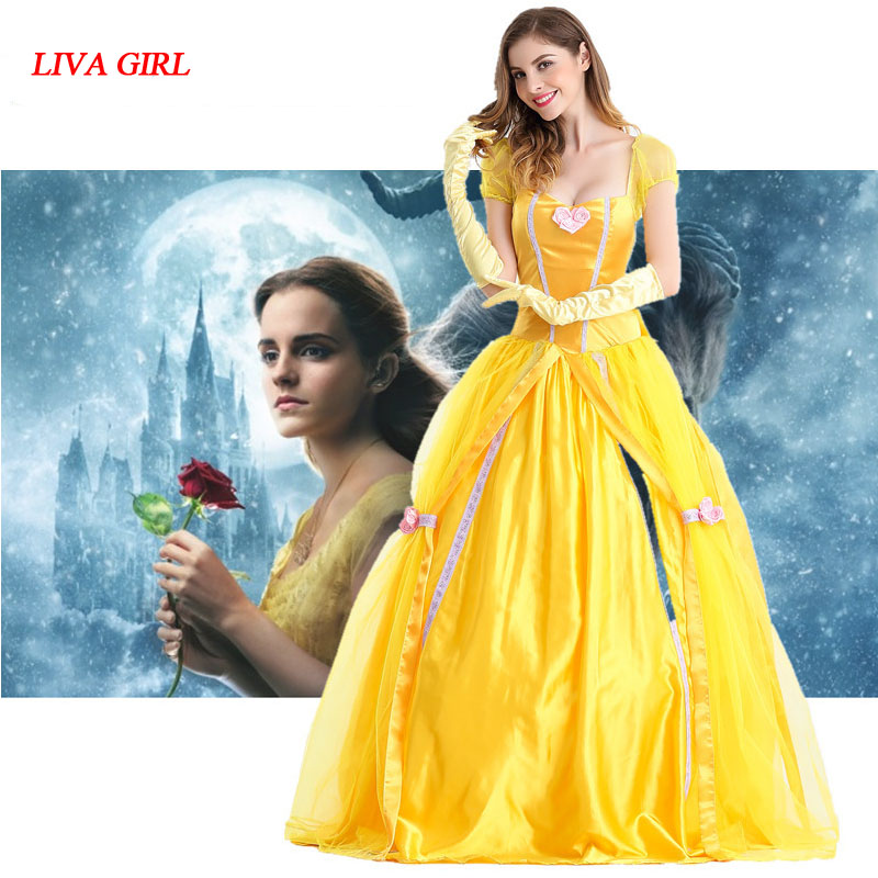 2017 Beauty and the Beast Halloween Princess belle cosplay ...