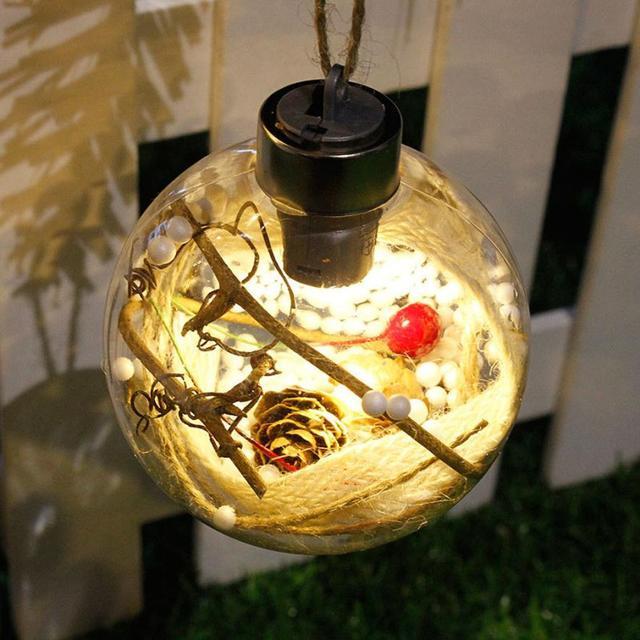 Merry Christmas Tree LED Bulb Light Ball Ornament Xmas Garden DIY Festival  Decoration In Home #