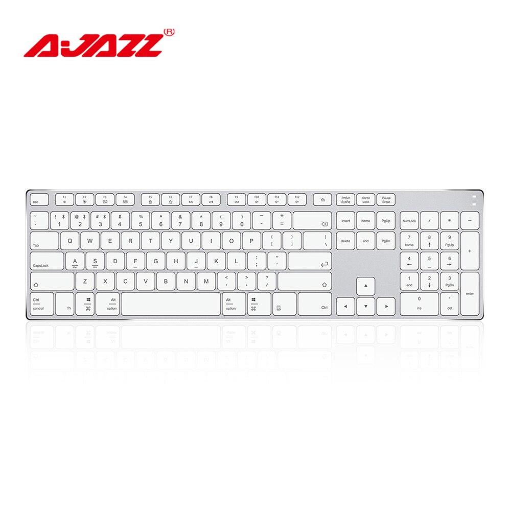 Ajazz AK3.3 Wireless Bluetooth 3.0 Ultra thin Membrane