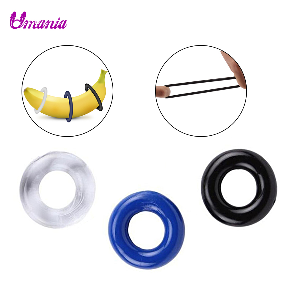 3 Pcs/Set Penis Lock Ejaculation Rings Cock Extender Rings Penis Cock Lasting Rings Sex Products Erotic Sex Toys For Couples Men
