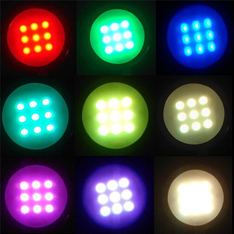 Us 40 74 30 Off Aiboo 8 Rgb Color Changing Led Under Cabinet Lighting Puck Lights Wireless Dimming For Kitchen Counter Furniture Shelf In