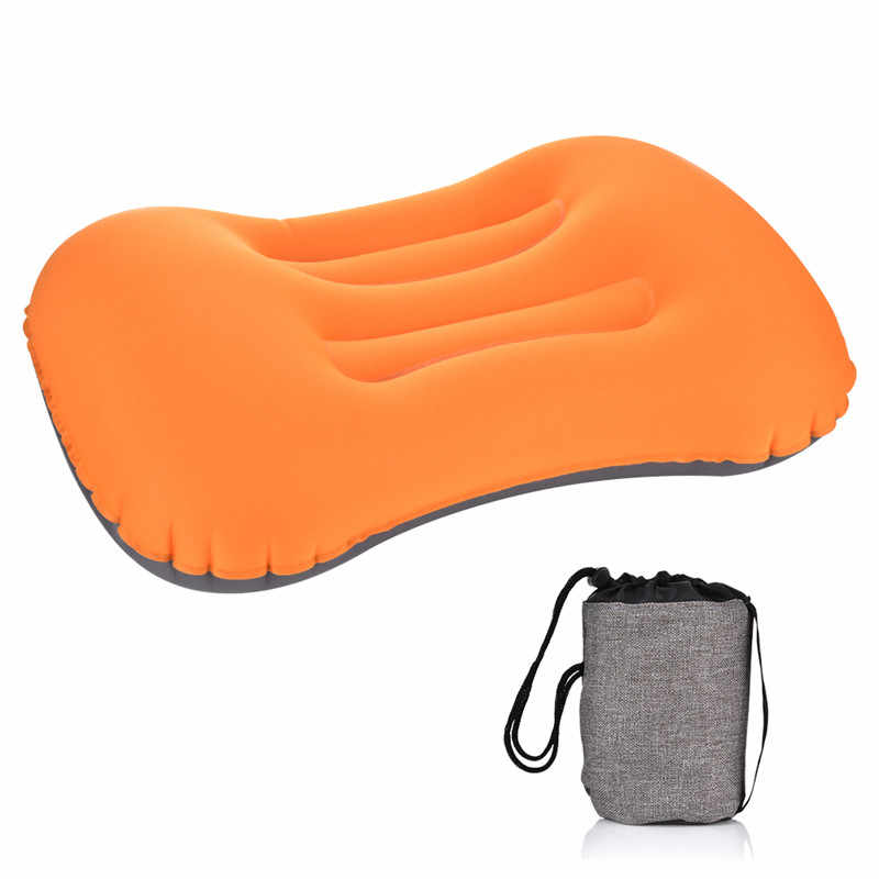 Portable Outdoor Travel Camping Pillow Compressible Inflatable Cushion Soft Neck Protective HeadRest Pillow