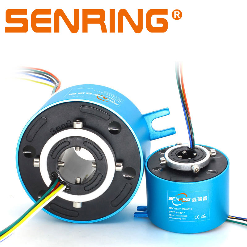 Through Hole Slip Ring 12.7mm Bore Size 8/12/18/24 Wires 2A/5A/10A Precious Metal Contacts OD56mm