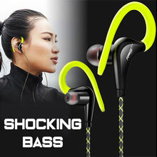 Fonge Ear Hook Sport Earphone Super Bass Sweatproof Stereo Headset Sport Headphone for Huawei Galaxy s6 smart phone