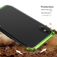 Showkoo Newest Smartphone Case For IPhone X Cover 3 In 1 Metal Aluminum PC Back 360