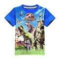 2016 Новый 3-9 лет летний детский tee мода динозавров стиль мальчики футболки классический Миру Юрского и парк шорты для детей-мальчиков