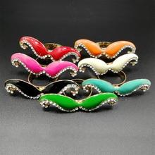 1pcs Wholesale Lots Bulk Retail Vintage Women Female Personality Rhinestone Moustache Design Adjustable Finger Ring цены