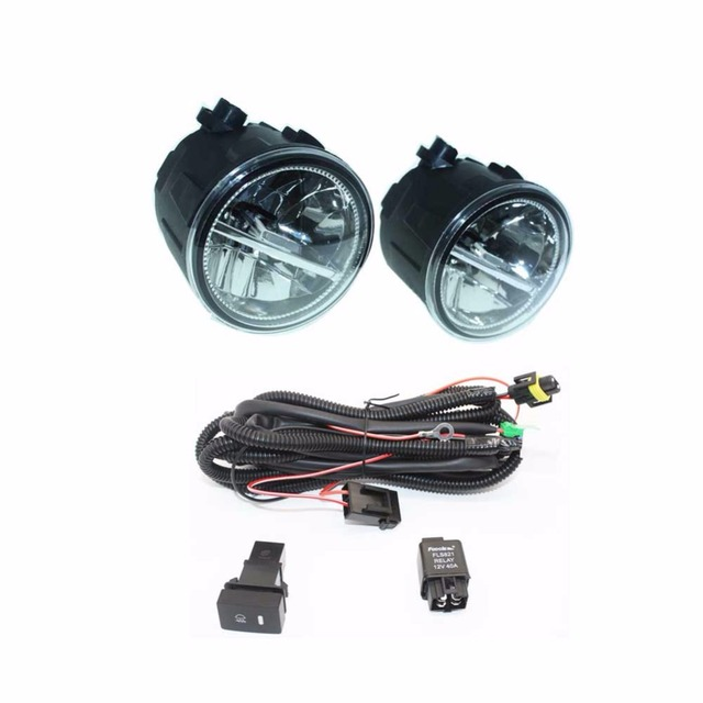 h11 wiring harness sockets wire connector switch 2 fog lights drl front bumper led lamp for nissan x trail t31 closed Road King Classic