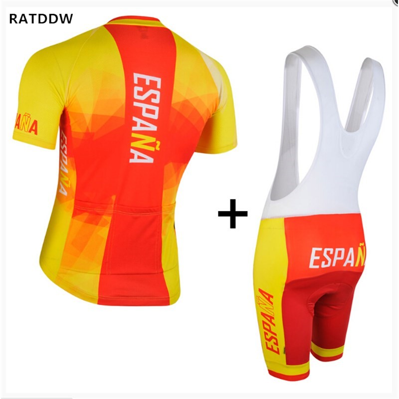 RATDDW для мужчин Испания Трикотаж Короткий рукав велосипед велосипедный трикотаж PA ciclismo Майо Спортивная одежда