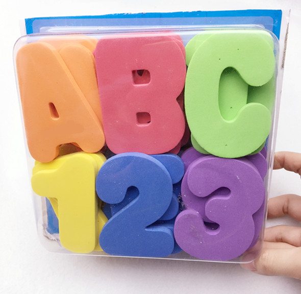 36pcsset 26 letters 10 numbers foam letters bath animals water stickers