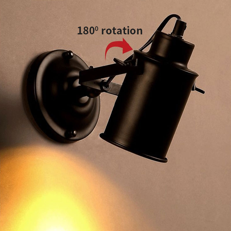 Image 4 - Wall Lamp Retro Industrial wall Light adjustable light sconce fixtures for Restaurant bedside Bar Cafe Home Lighting E27-in LED Indoor Wall Lamps from Lights & Lighting on AliExpress