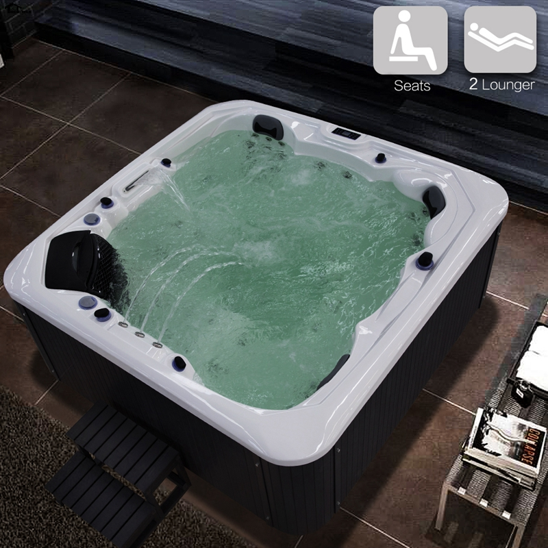 2230mm massage Bathtub Whirlpool Bath Outdoor Spa WHITE Hot Tub Tubs ...