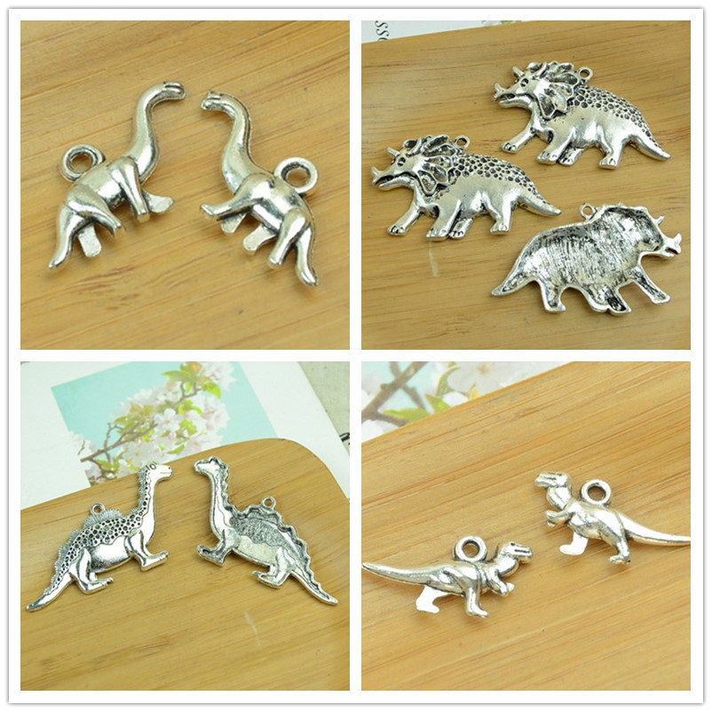 dinosaur/rhino charms animal shape antique silver alloy pendant choker bracelet DIY jewerly accessories findings free shipping
