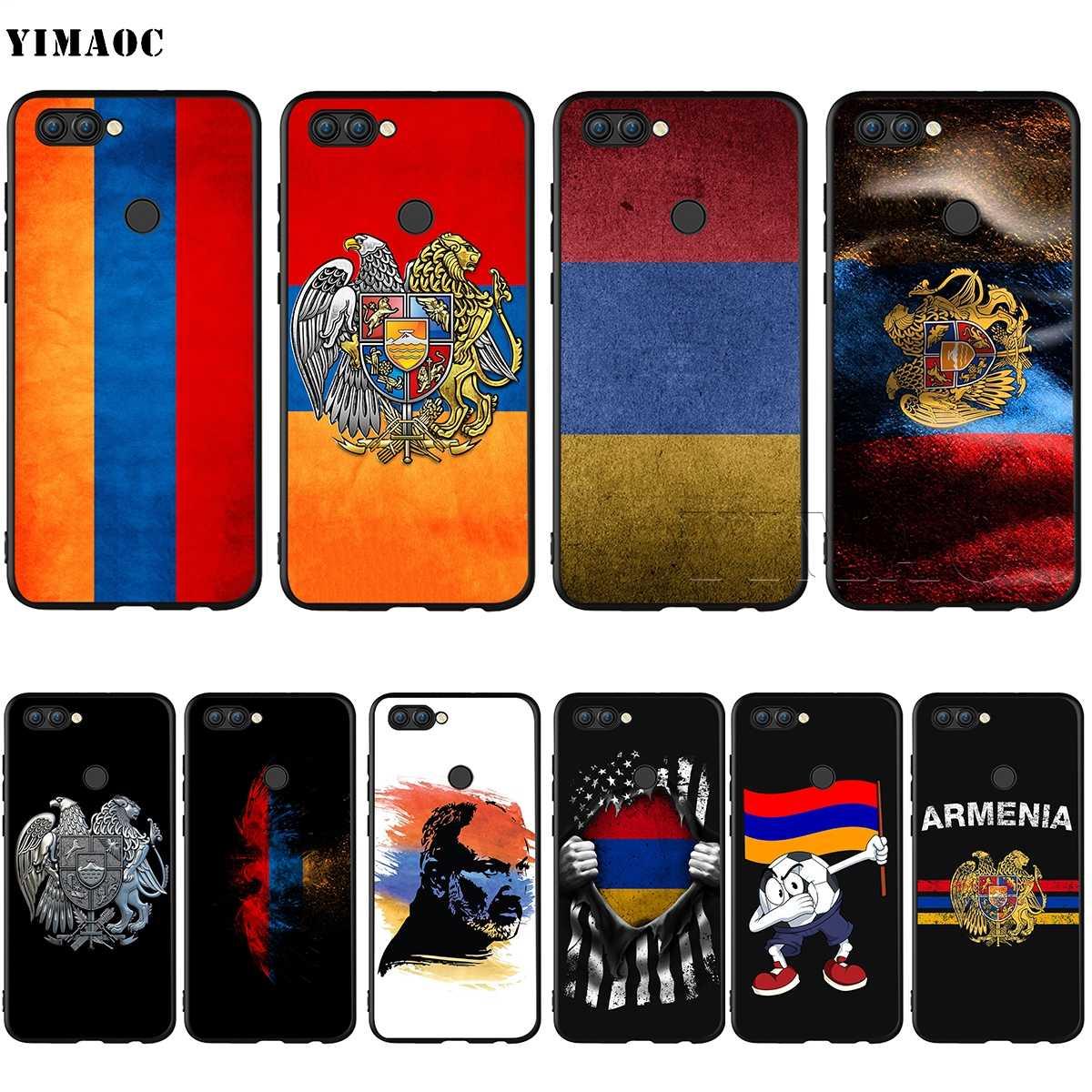 Yimaoc Армении армян чехол с флагом для huawei Коврики 30 20 Honor Y7 7a 7c 8c 8x9 10 Nova 3i 3 Lite рro Y6 2018 P30 P smart