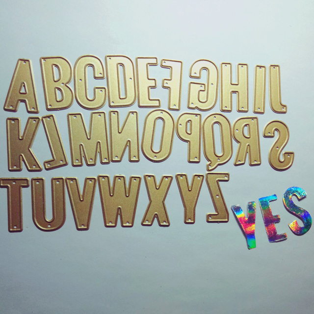 3cm Large Letters Craft Metal Cutting Dies For Scrapbooking New 2018