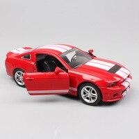 Kid's 1:32 Schaal merk kleine Ford Shelby GT500 mustang diecasting ras sport auto replica miniatuur model goedkope speelgoed gift voor jongens