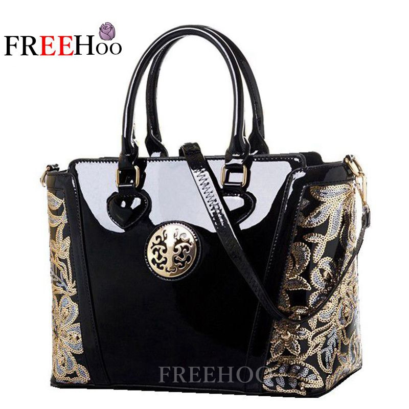 82550c7e2b16 New style in Europe and America bags for women 2018 sequined chains Luxury  patent pu leather