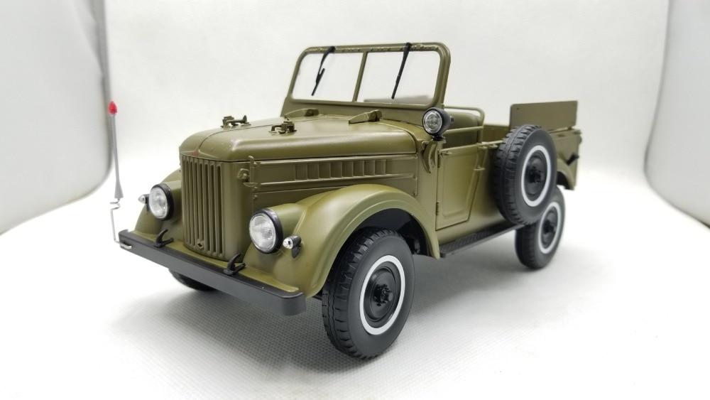 1:18 Diecast Model for GAZ69 U.S.S.R. Soviet Union ARMY Truck (Green) Alloy Toy Miniature Collection USSR GAZ-69 GAZ autoprofi gaz 002