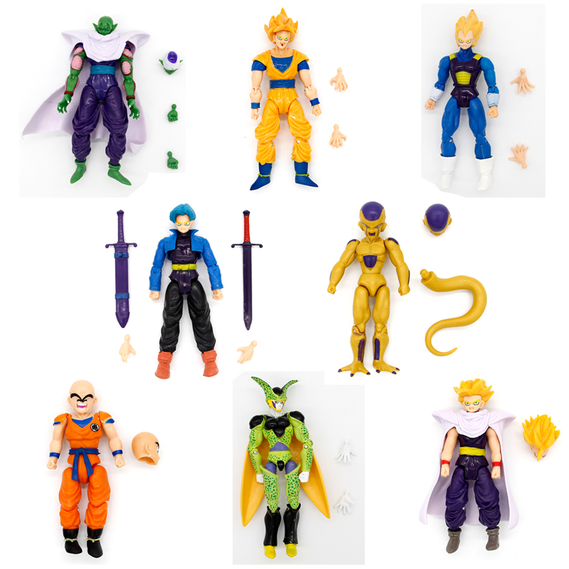 8pcs/lot  dragonball super movable joints doll toy goku PVC Collection Model Anime Hobbies Action Toy Figures Toys For Children