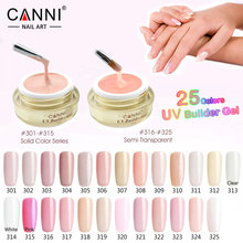 #50951 Canni Soak Off UV Extend Sculpture Nail Gel 15ml Natural Builder Gel 25 Colors Nail Art Camouflage Gel(China)