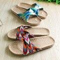 Parejas de Interior Zapatos de Cáñamo de Las Mujeres/de los hombres Zapatillas de Casa de Verano Para Casa Dormitorio Baño Unisex Pisos Transpirable Suave Fondo Resorte
