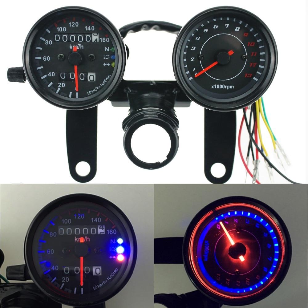 Cafe Racer Gauges : Iztoss v motorcycle scooter black led odometer