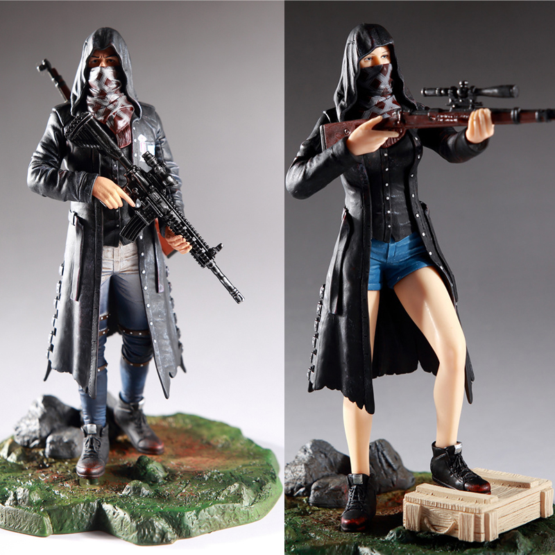 PUBG Game Playerunknowns Battlegrounds Male & Female Master 98K M416 Faith Suit PVC Figure Model Dolls Collection Toys for Gifts велосипед bulls decane 2014