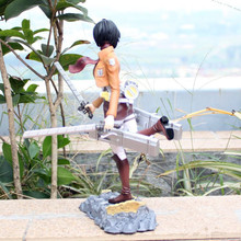 Hot Japan Anime Action Figure Attack on Titan Mikasa Ackerman San Ye Fighting Ver PVC 25cm Model Collection Sexy Brand New Doll