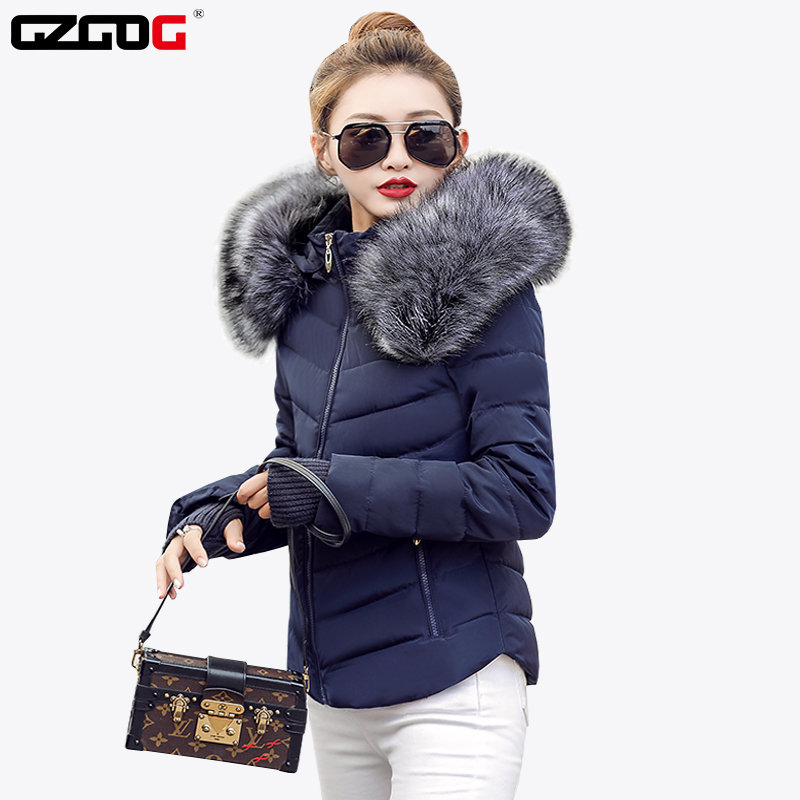 Parka Down Jackets Coat Clothing Snow-Wear Raccoon Fur-Collar Female Thick Women Fake