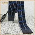 Hombres otoño invierno bufandas largo y grueso de la bufanda de tartán Wraps bufandas de la borla para hombre