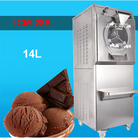 ICM 28S 110V/220V Stainless Steel Commercial Gelato Maker Brand New Italian Ice Cream Machine High Quality 28 35L/H 2200W