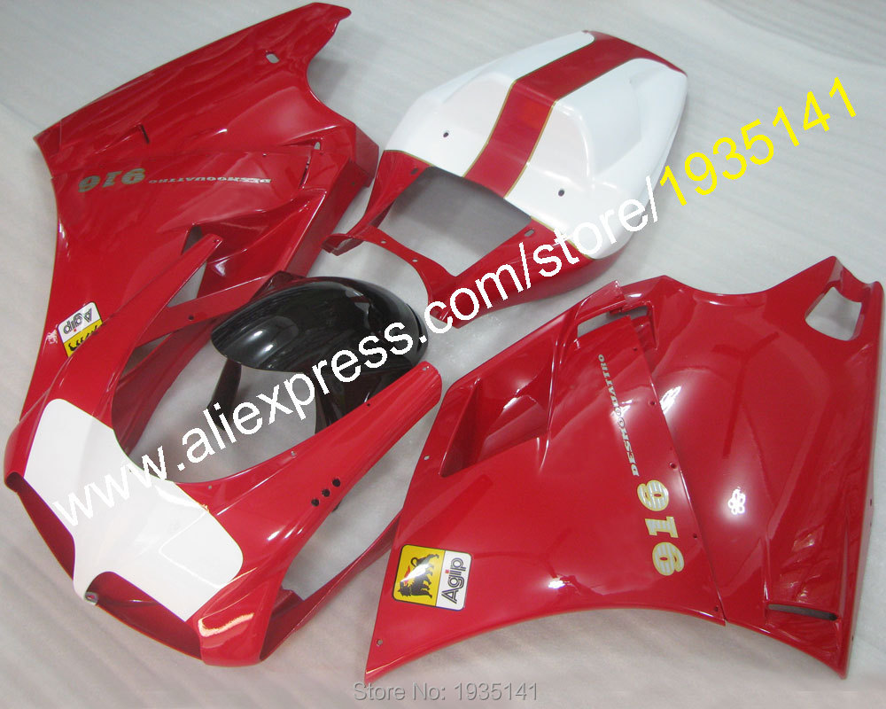 Hot Sales, Red black white cowling For Ducati 996 748 DUCATI 748 996 1996-2002 motorbike Fairing set 96-02 (Injection molding)