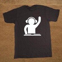 Man T Shirts DJ Turntable Music Techno Club Headphone Cotton Tops Short Sleeve Plus Size T-shirt For Men Tee Shirts Clothes