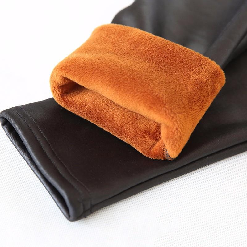 fleece pu leggings08