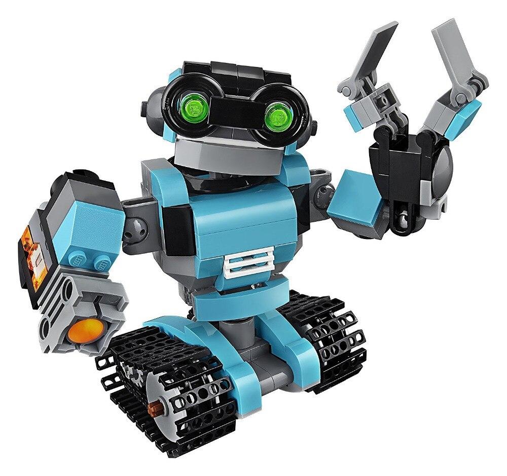 LEPIN City Creator 3 in 1 Robo Explorer Building Blocks Bricks Kids Model Toys For Children Marvel Compatible Legoe