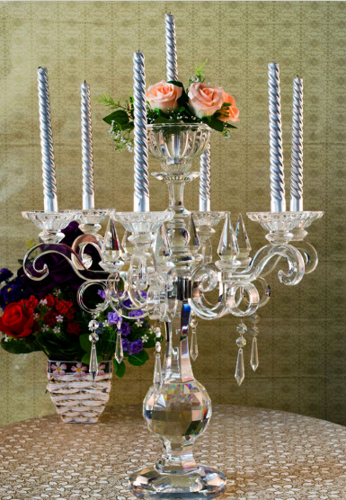 Free Shipping 7 Luxury Crystal Candle Holders Hotel Decoration Wedding The Whole Production In From Home Garden On