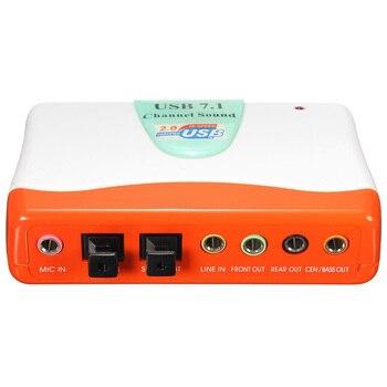 Внешний адаптер USB 7,1 канала 5,1 оптический Аудио Звуковая карта для Win7 8