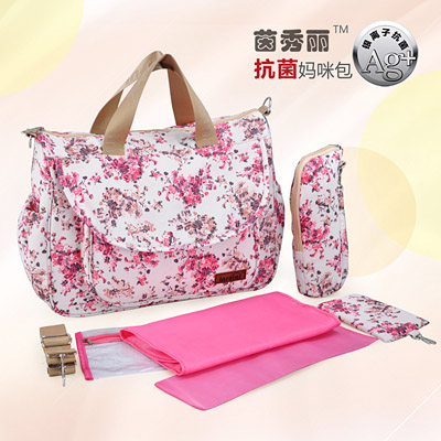 98f4f5252ebea 2018 Hot sale 5PCS Set High Quality Tote Baby one Shoulder Diaper Bags  Durable Nappy