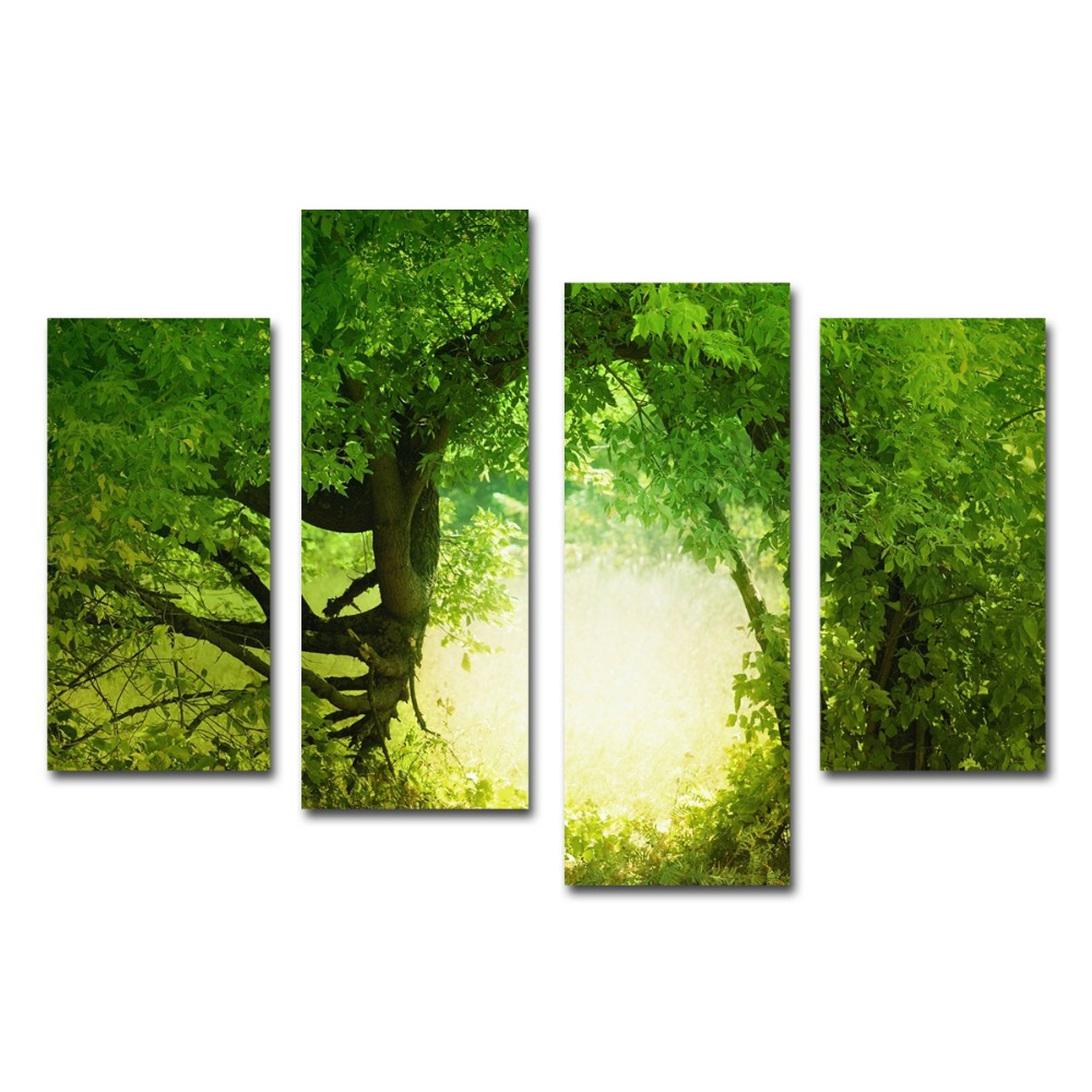 Co color art printing anchorage alaska - Color Art Printing Green Trees Painting Bright Color Art Printing Decoration Home Wall Canvas Prints