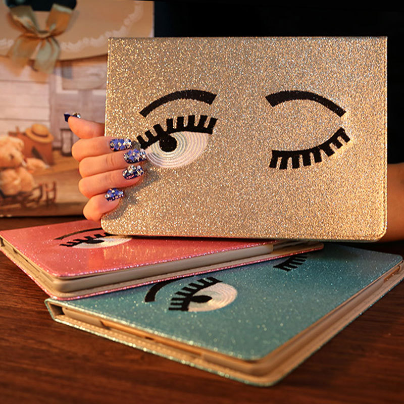 Hot!!! fashion bling big eyes Smart Cover For apple tablet mini <font><b>case</b></font> Leather <font><b>Case</b></font> For apple Mini 1 2 3 4 <font><b>Case</b></font> original wake up