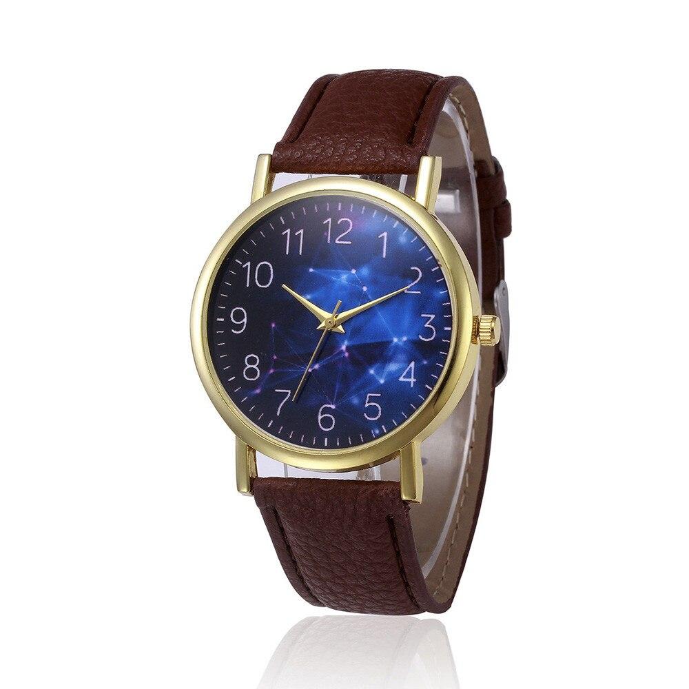 Really Cheap Charming Hour Retro Design Female Clock Leather Band Analog Alloy Dial Quartz Wrist Watch  Feminino Gifts