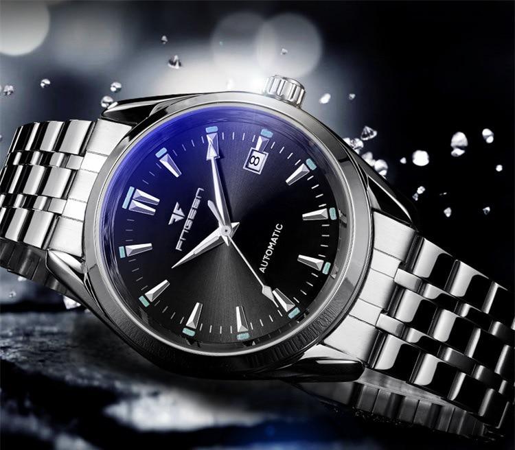 HTB1DfCtX.GF3KVjSZFoq6zmpFXam 2019 Mens Wrist Watch Top Brand Luxury Watches Male Luminous Calendar Waterproof Stainless Steel Automatic Mechanical Wristwatch